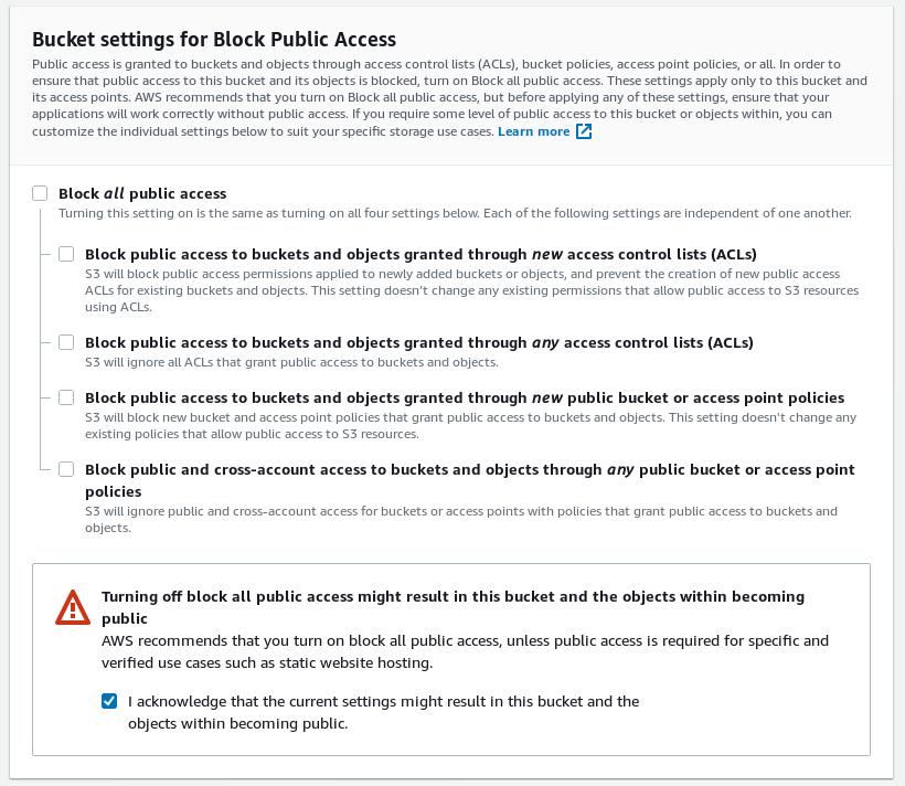 Uncheck Block All External Access